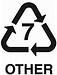 plastic recycling symbol 7
