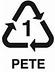plastic recycle symbol 1 PETE