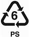 plastic recycling symbol 6 PS