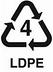 plastic recycling symbol 4 LDPE