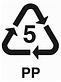 plastic recycling symbol 5 PP