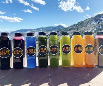 Fresh-squeezed juices from Kona Bowls in Colorado