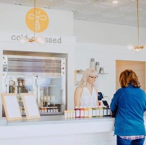 Juice bar and cash register