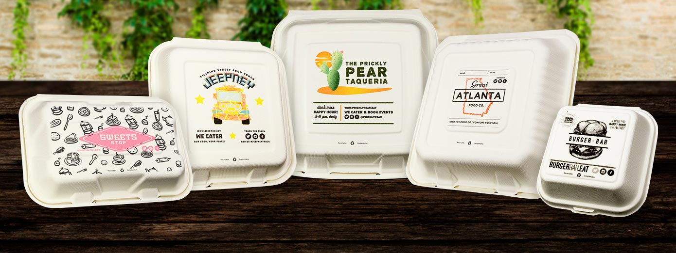 Custom Printed Take-Out Containers
