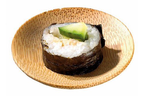 Bamboo Plate with Sushi