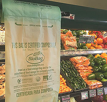 Compostable Produce Bag for Groceries or Farmers