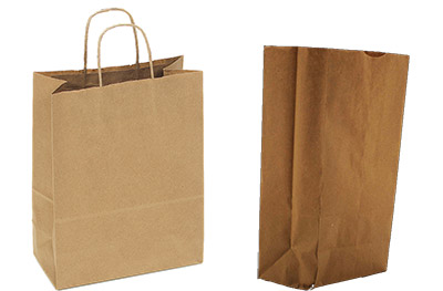 recycled paper shopping bags