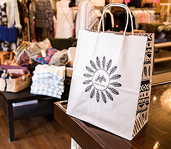 Custom Printed Recyclable Shopping Bags